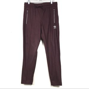 Adidas originals maroon zipper pocket pants